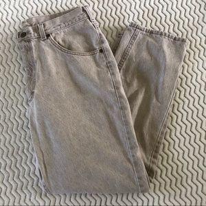 L.L. Bean Mens Vintage Jeans in Beige Sz 35x30